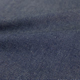 Stonewashed Cotton Denim - Dark Indigo Blue