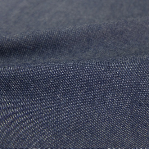Stonewashed Cotton Denim - Dark Blue