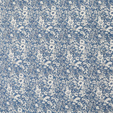 Autumn Flowers Cotton- Denim Blue