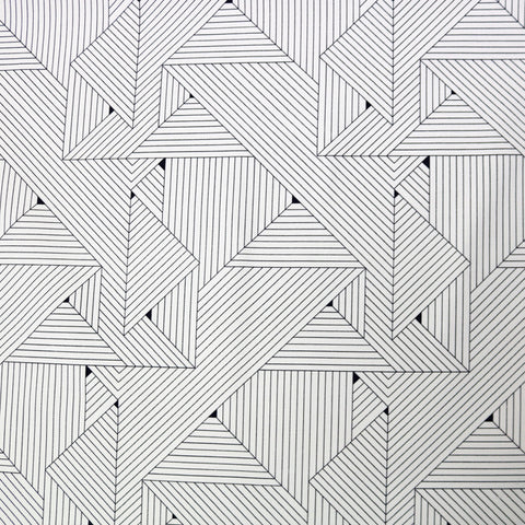 Geometric Grids Home Furnishing Fabric - White