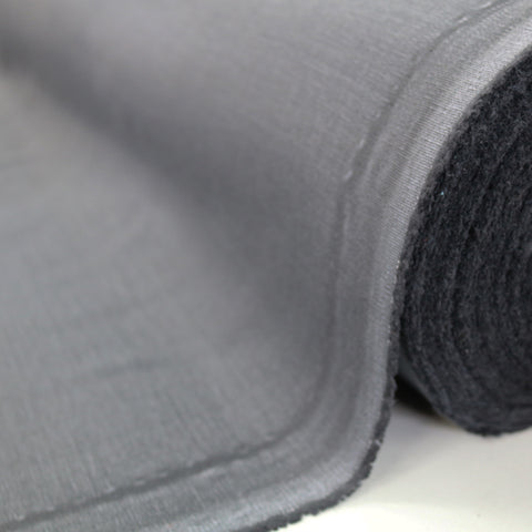 Home Furnishing Fabric Brushed Panama Weave - Gunmetal Grey