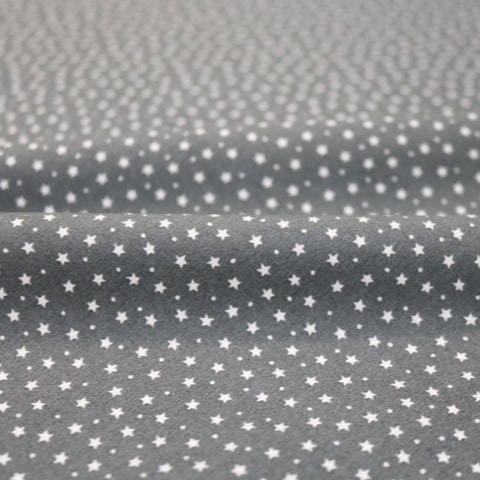 Stars and Spots Cotton - Grey
