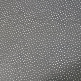 Printed Cotton Stars and Spots - Steel Grey