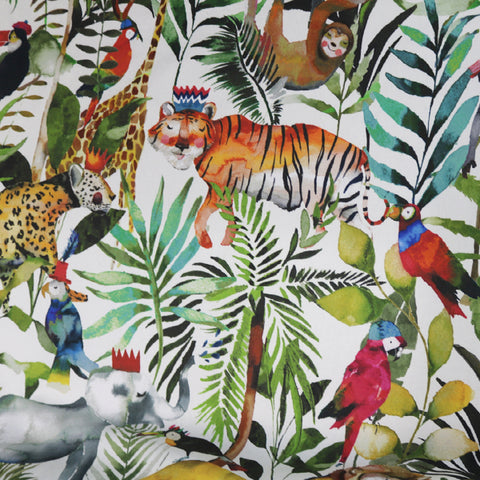 Way down deep in the middle of the Jungle Home Furnishing Fabric