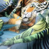 Hello Tiger - Velvet Home Furnishing Fabric