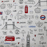 Home Furnishing Linen Look Cotton/Polyester Mix - London Baby
