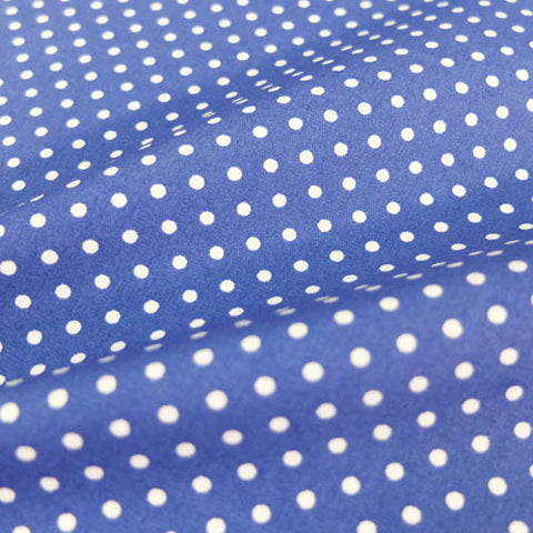 Polka Dot Cotton - Mid Blue
