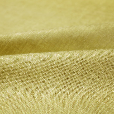 Home Furnishing Metallic Cotton Linen Mix  - Ochre Yellow