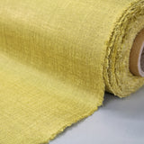 Metallic Linen Home Furnishing Fabric - Ochre
