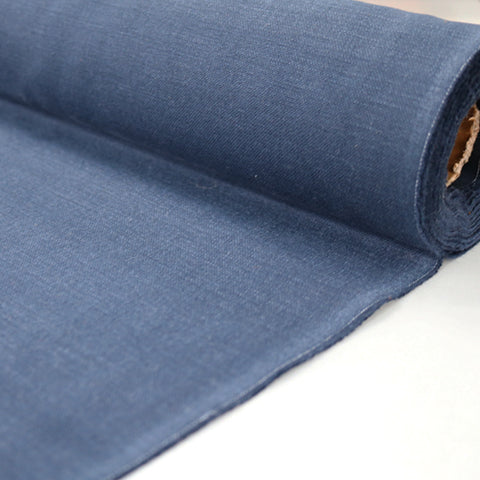 Home Furnishing Fabric Brushed Panama Weave - Navy Blue
