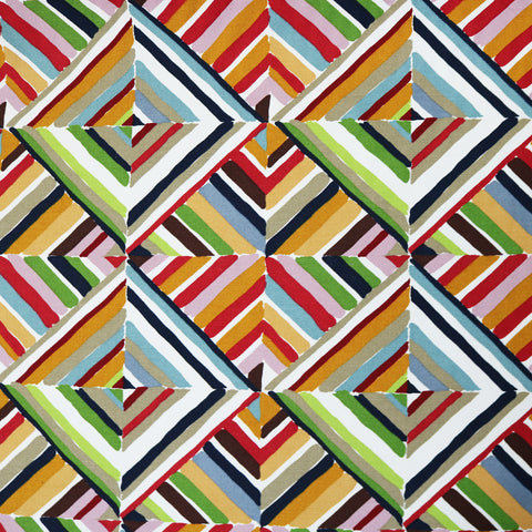 Painted Grids Cotton Panama Home Furnishing Fabric