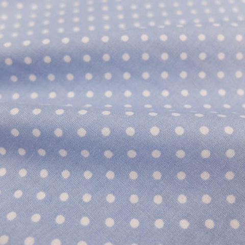 Polka Dot Cotton- Pale Blue