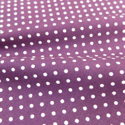 Polka Dot Cotton- Purple