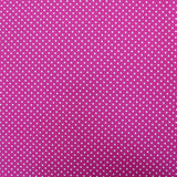 Polka Dot Cotton- Magenta