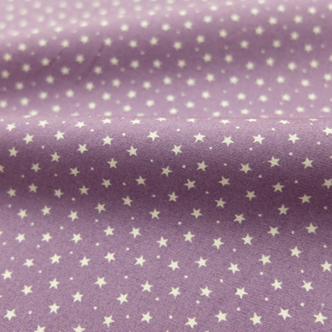 Printed Cotton Stars and Spots - Antique Mauve Purple