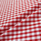 Corded Gingham - Red