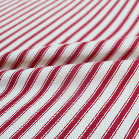 Indian Ticking Stripe Home Furnishing Fabric - Deep Red