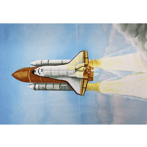Rocket Panelled Cotton Fabric