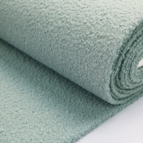 Boucle Coating Fabric - Sage Green