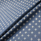 Japanese Indigo Print Textured Cotton - Cross