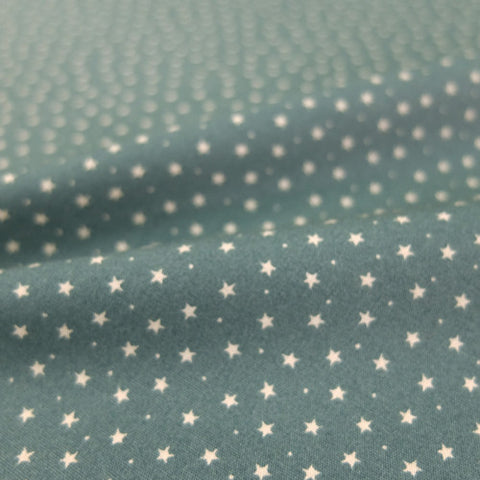 Printed Cotton Stars and Spots - Antique Sage Green
