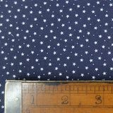 Printed Cotton Stars and Spots - Night Sky Navy