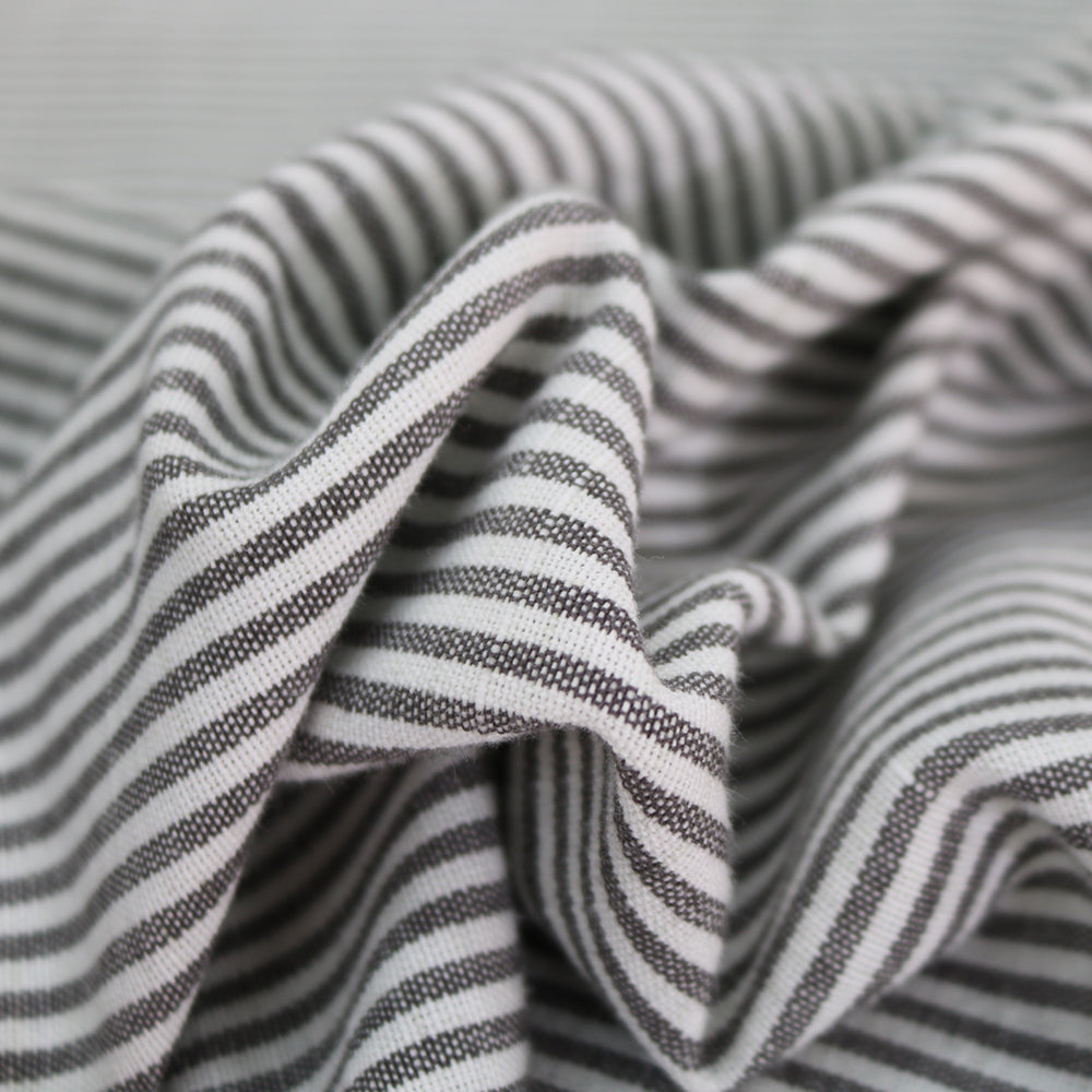 Chambray Stripe Home Furnishing Fabric - Grey