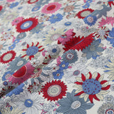Summer Flowers Cotton - Red & Blue