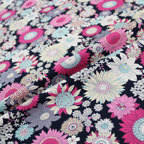Summer Flowers Cotton - Pink