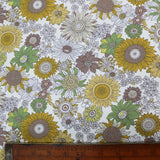 Summer Flowers Cotton - Yellow