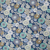 Summer Flowers Cotton - Blue