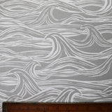Waves Home Furnishing Fabric - Grey