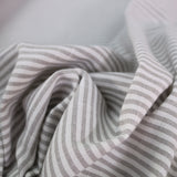Chambray Stripe Home Furnishing Fabric - Taupe