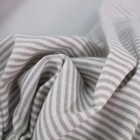 Chambray Stripe Home Furnishing Fabric - Light Grey
