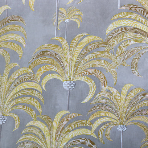 Palm Tree  Home Furnishing Fabric- Mustard