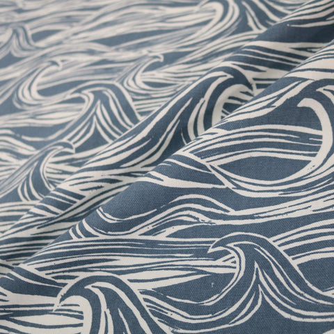 Waves Home Furnishing Fabric - Blue