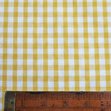 Corded Gingham - Yellow