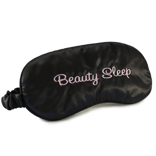 Morning Glamour Satin Sleep Mask Black