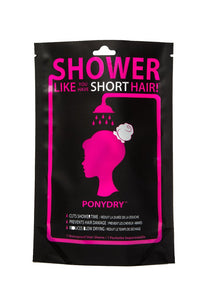 PonyDry Waterproof Hair Sleeve in Black