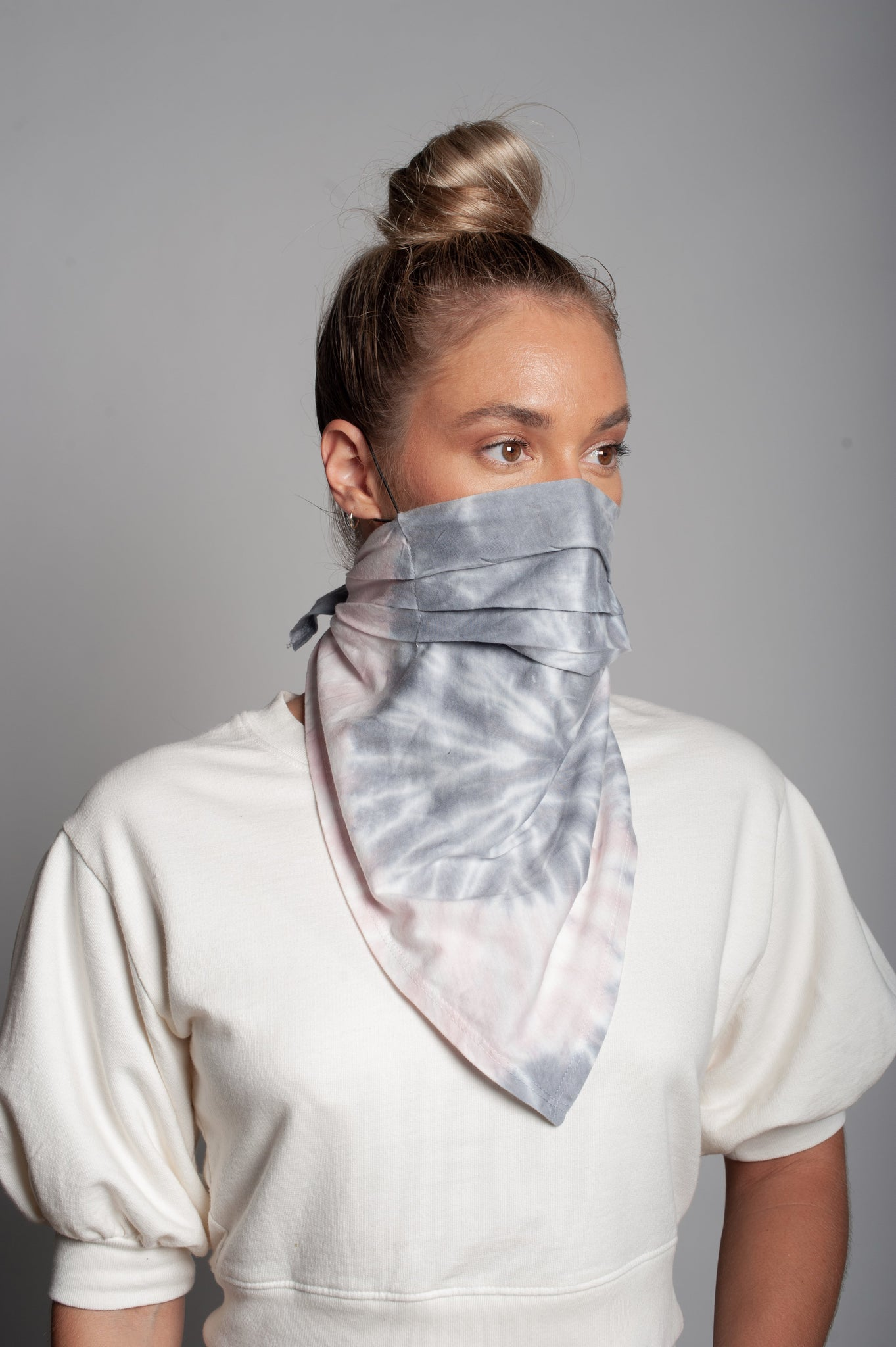 Cotton Candy Print Neck Scarf Dual Purpose Face Covering