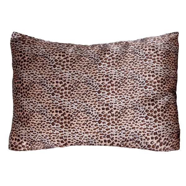 Morning Glamour Leopard Satin Pillowcase Set of 2