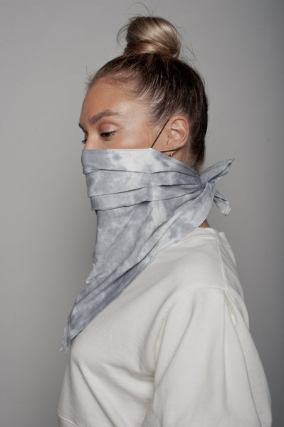 Black Splatter Neck Scarf Dual Purpose Face Covering