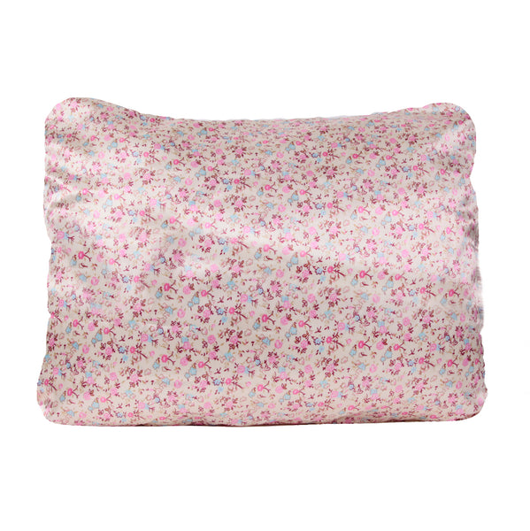 Morning Glamour Floral Satin Pillowcase Single