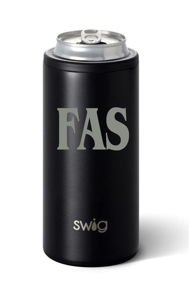 SWIG SKINNY CAN COOLER-MATTE BLACK
