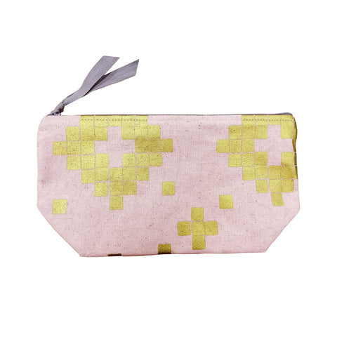 Linen Canvas Cosmetic Bag