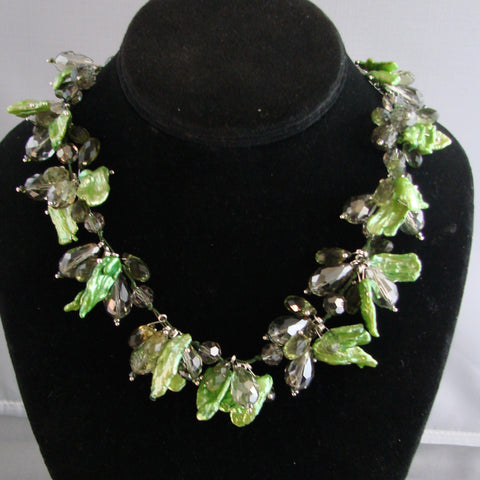Green leave Pearl Necklace