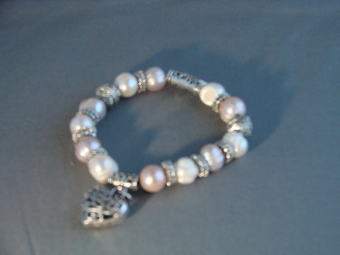Champagne and white Pearl bracelet