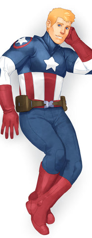 Captain America Body Pillow Case