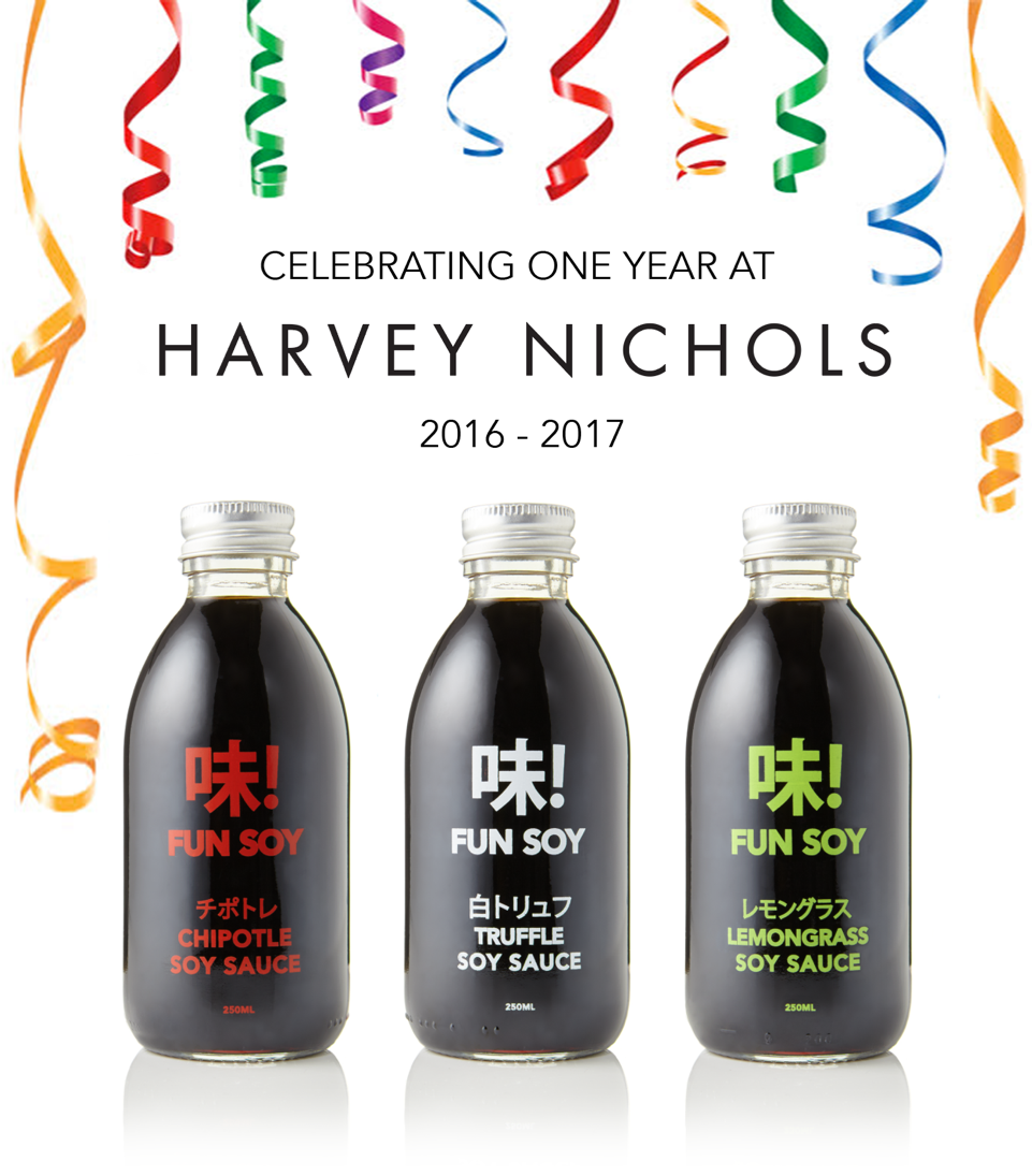 It's our Harvey Nichols 1 year anniversary!