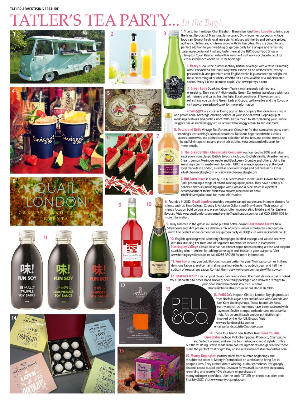 Check out Fun Soy in this month's Tatler!